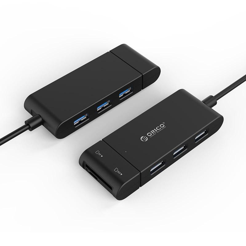 Hub USB 3 portas + Leitor SD Card - H32TS-U3-V1