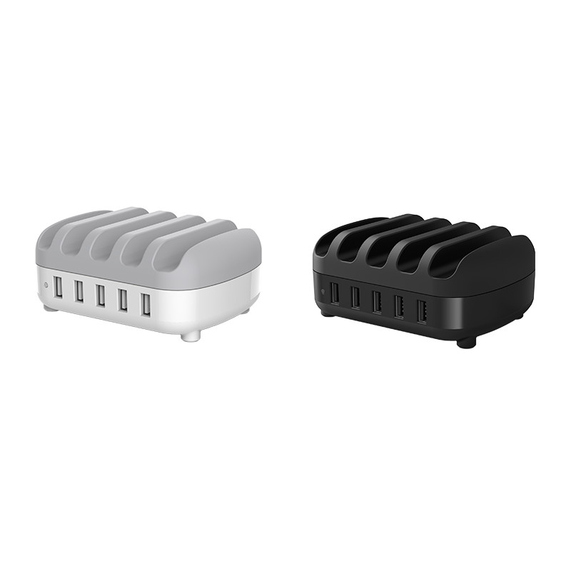 Hub Carregador 5 portas USB 40W com Suporte para Celular - DUK-5P