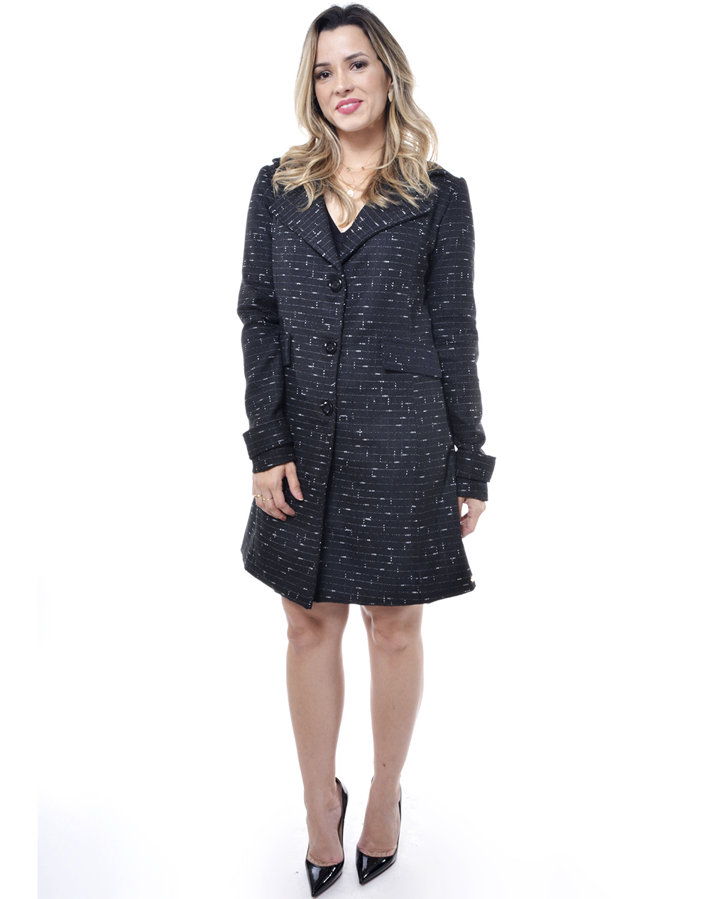 Casaco em Lã Tweed