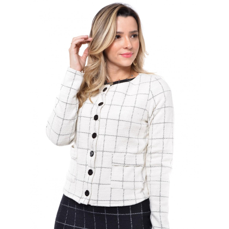 casaqueto em tweed jacquard
