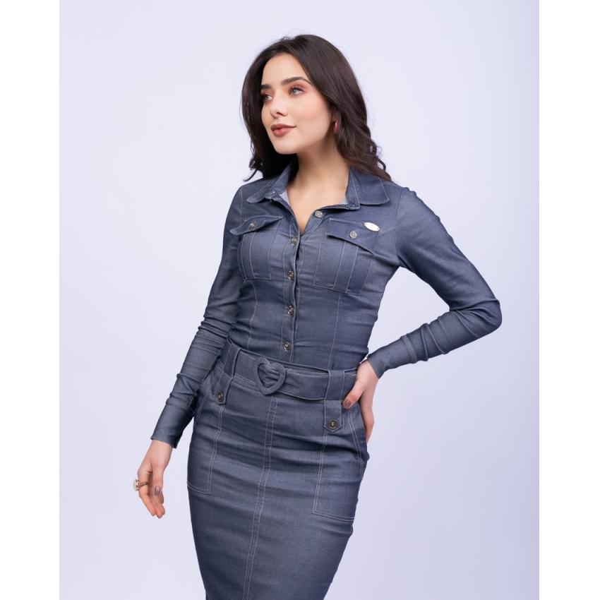 Saia Jeans Bengaline