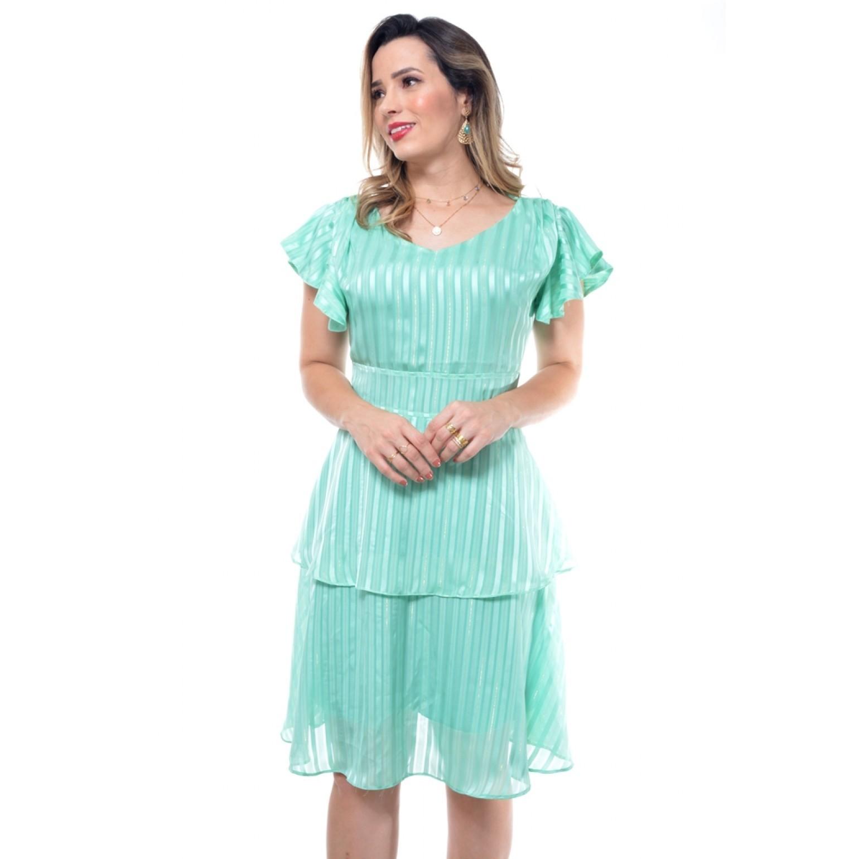 vestido curto em crepe
