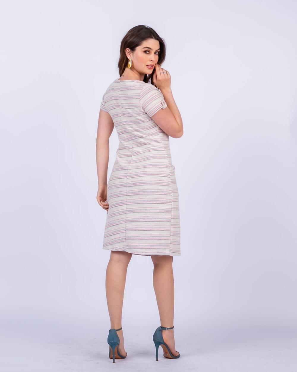Vestido de Tweed com Bolsos