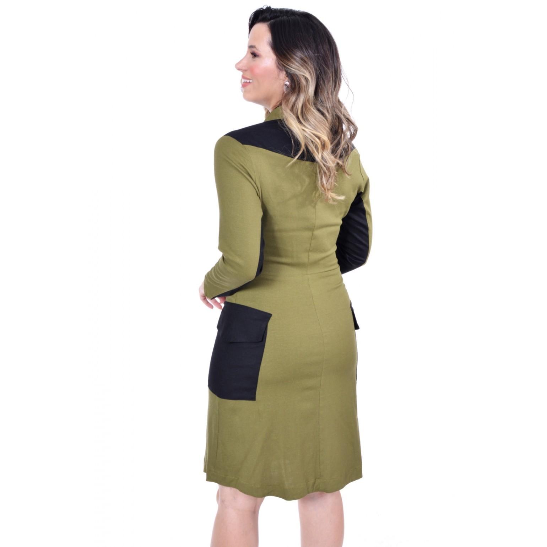 Vestido em Linho Evasê