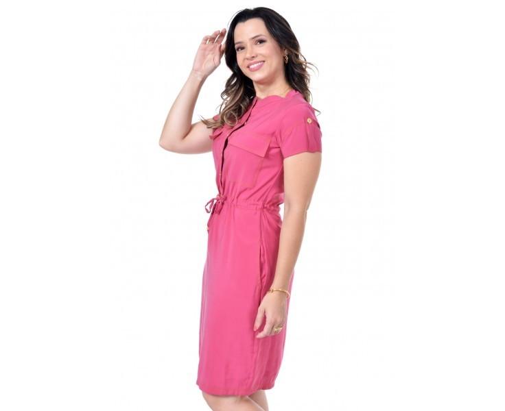 vestido em lyocell, modelagem levemente solta