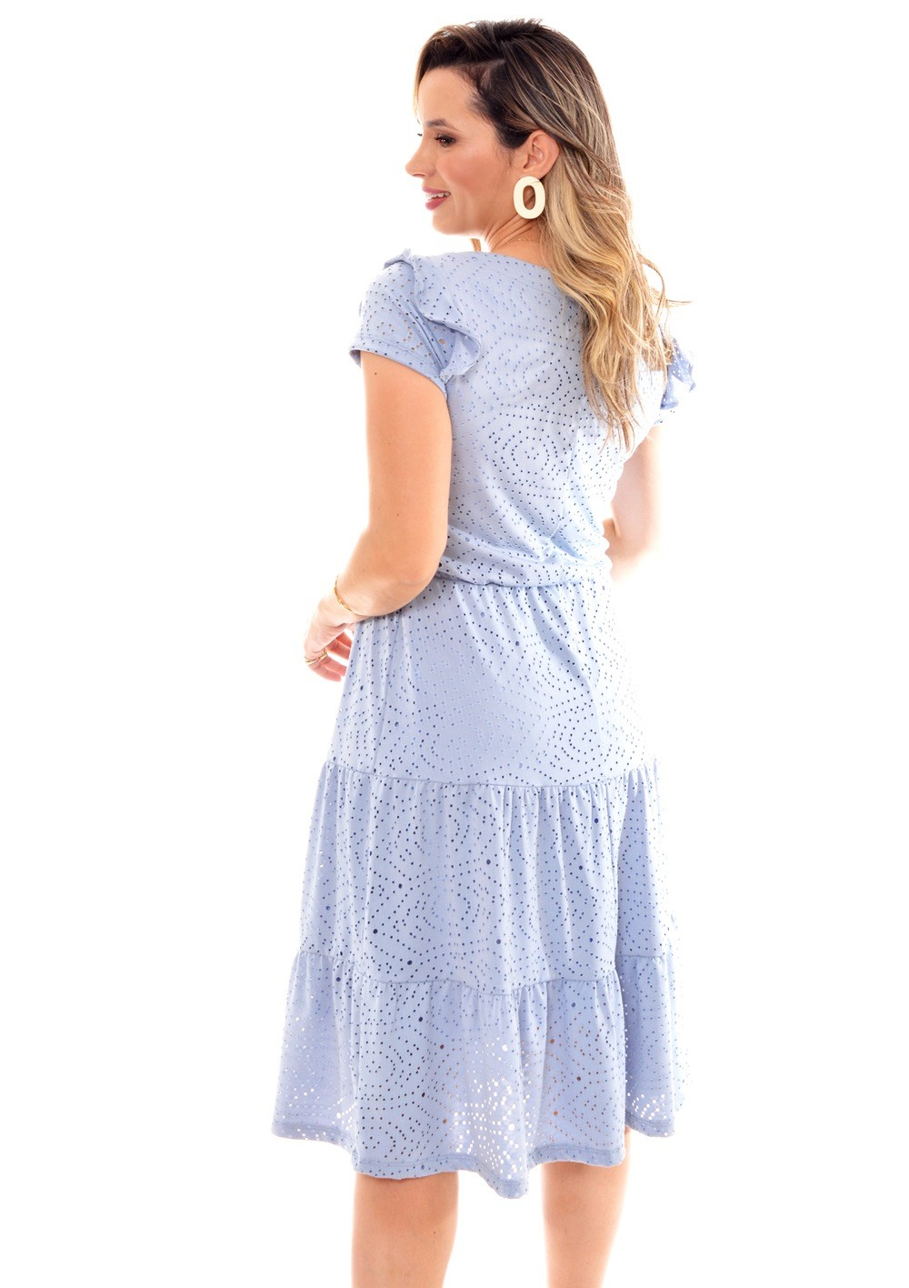 vestido em malha laise