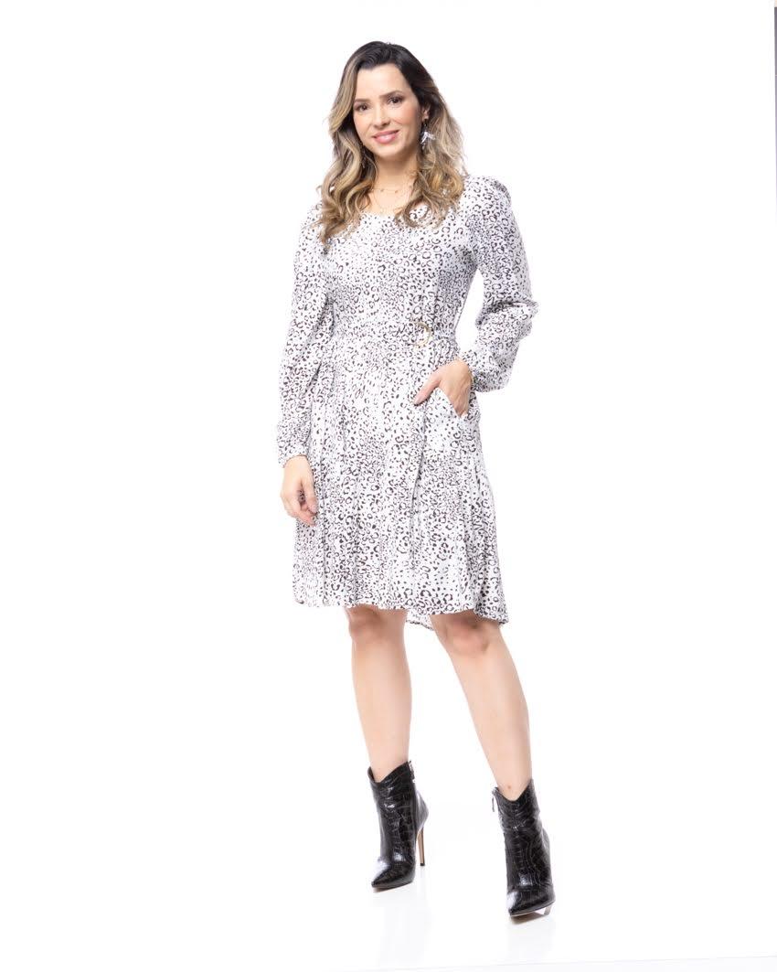 Vestido Estampa Oncinha