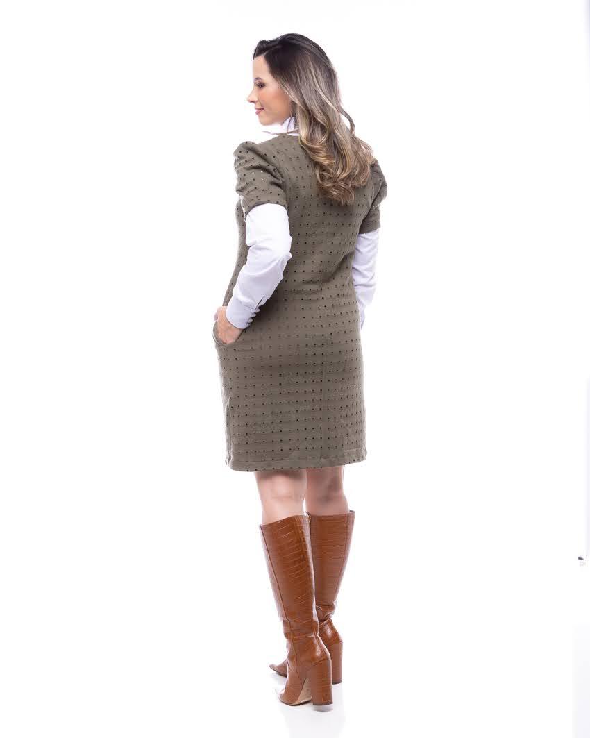 Vestido Moletinho Vazado