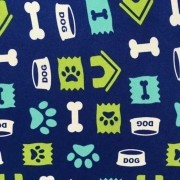 OXFORD ESTAMPADO PETS AZUL