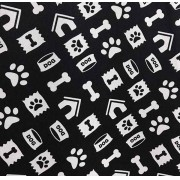 OXFORD ESTAMPADO/PETS PRETO E BRANCO