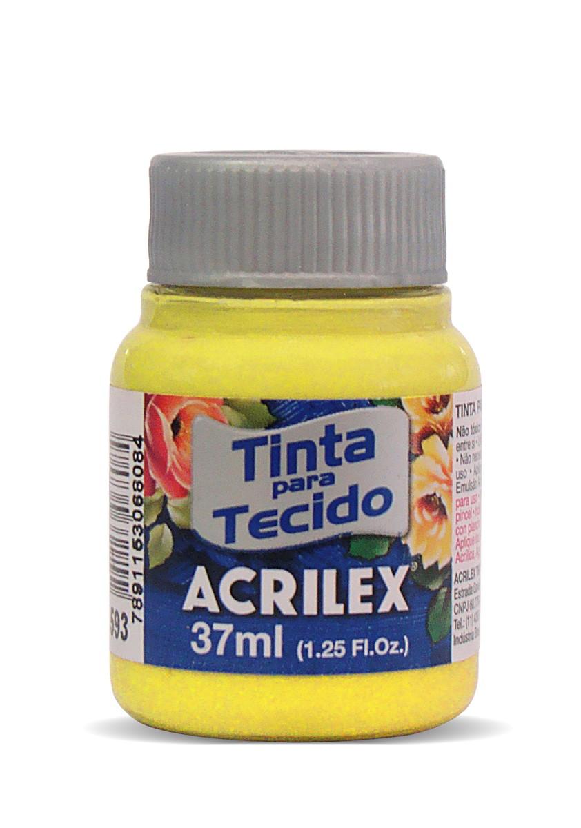 TINTA PARA TECIDO ACRILEX 3.UN AMARELO CANARIO