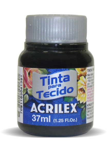 TINTA PARA TECIDO ACRILEX 3.UN PRETO