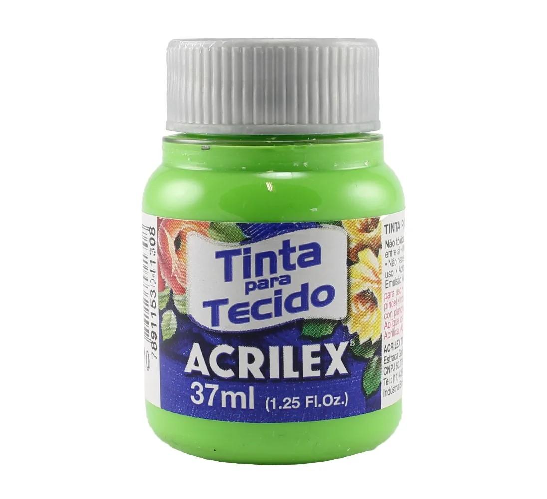 TINTA PARA TECIDO ACRILEX 3.UN VERDE FOLHA