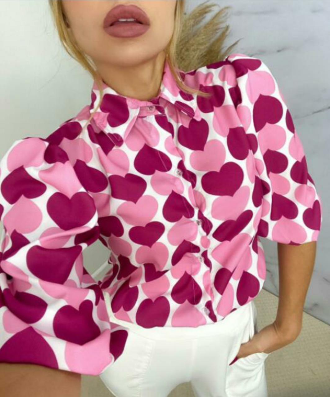 Camisa coração Mili