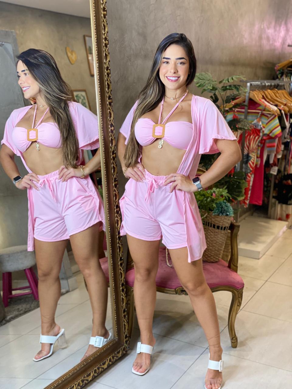 Conjunto três peças Camila