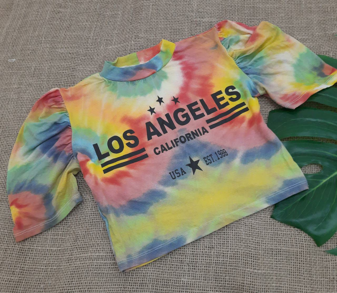 Cropped tie dye Los Angeles BF