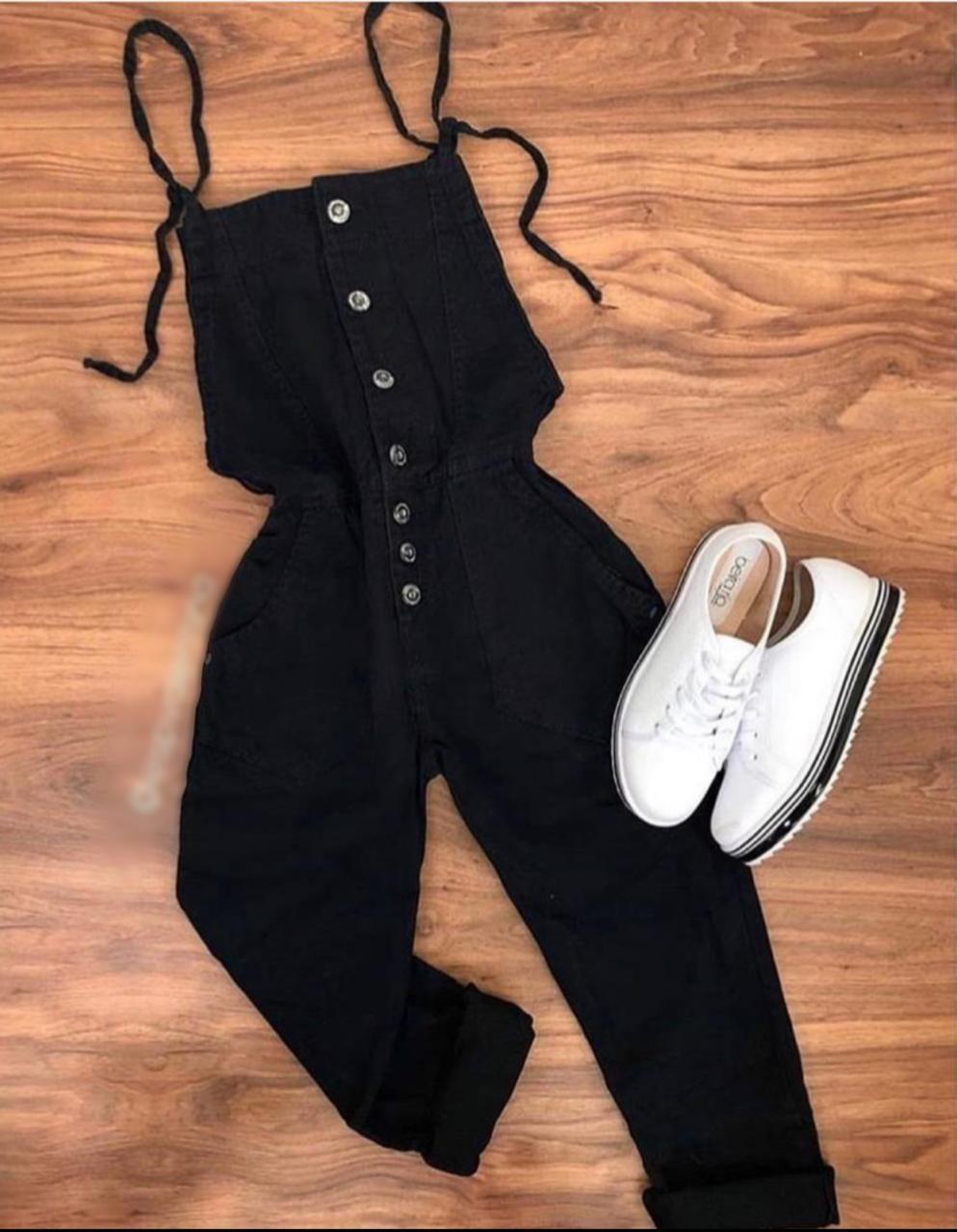 Jardineira jeans 4001