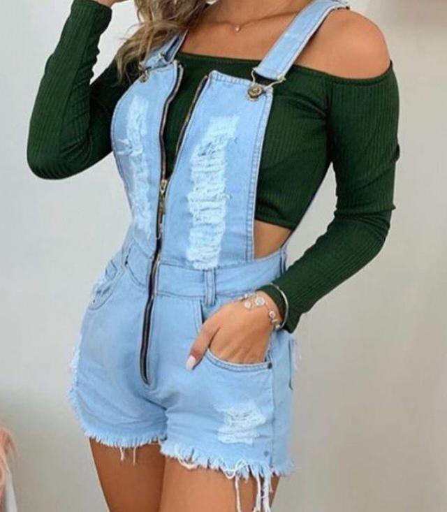 Jardineira jeans 4003