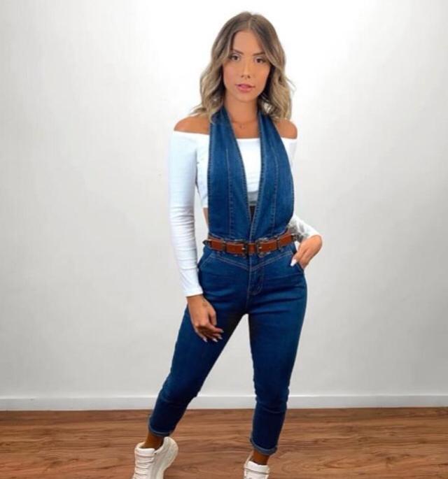 Jardineira  jeans 4010