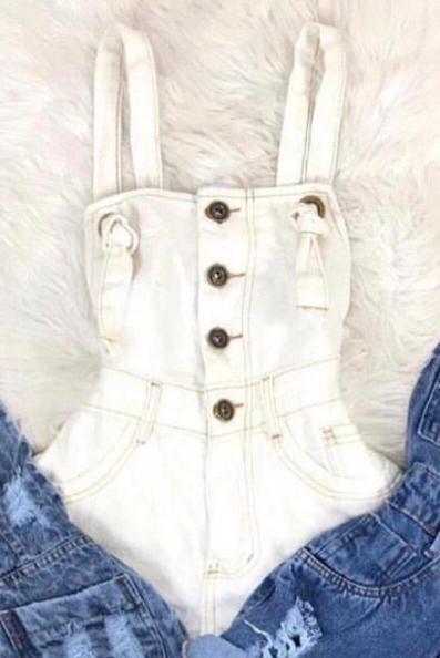 Jardineira jeans 4012