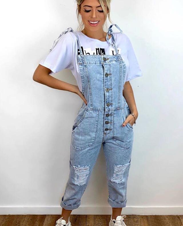 Jardineira jeans 4015