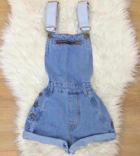 Jardineira jeans 4017