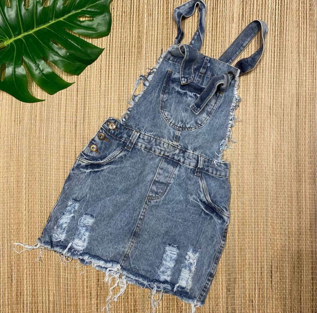 Jardineira jeans 4020