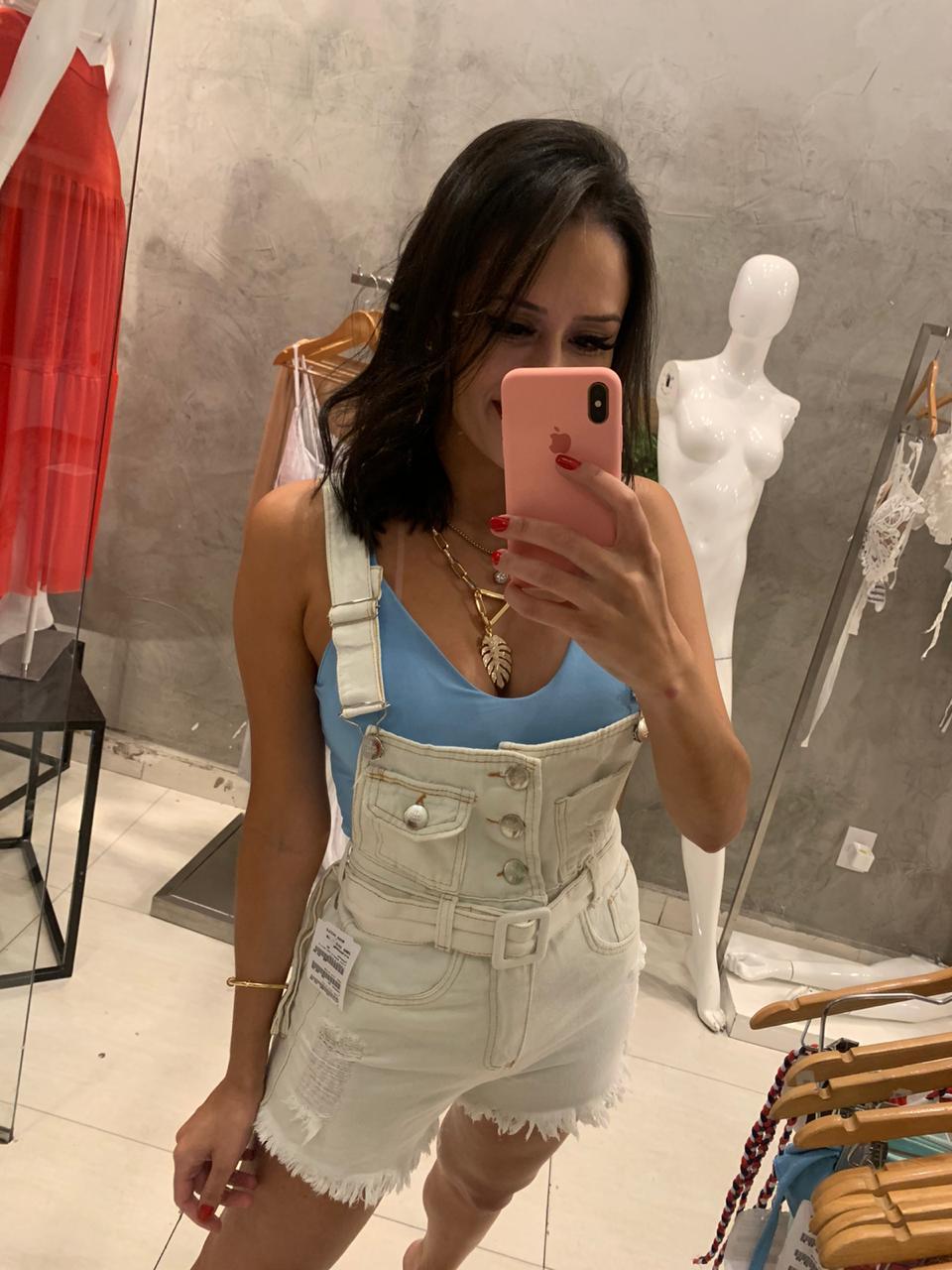 Jardineira jeans Ana