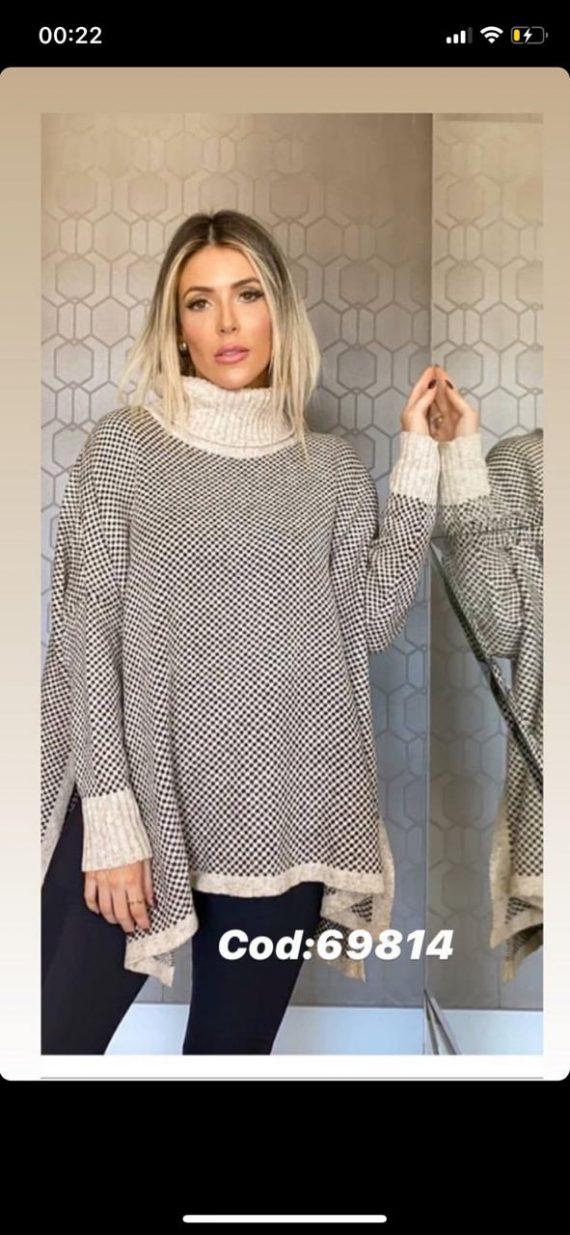 Poncho tricot Luli