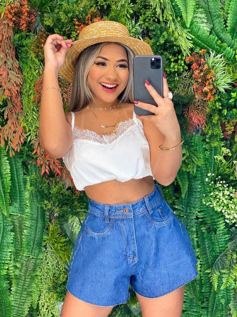 Short jeans godê Cancún