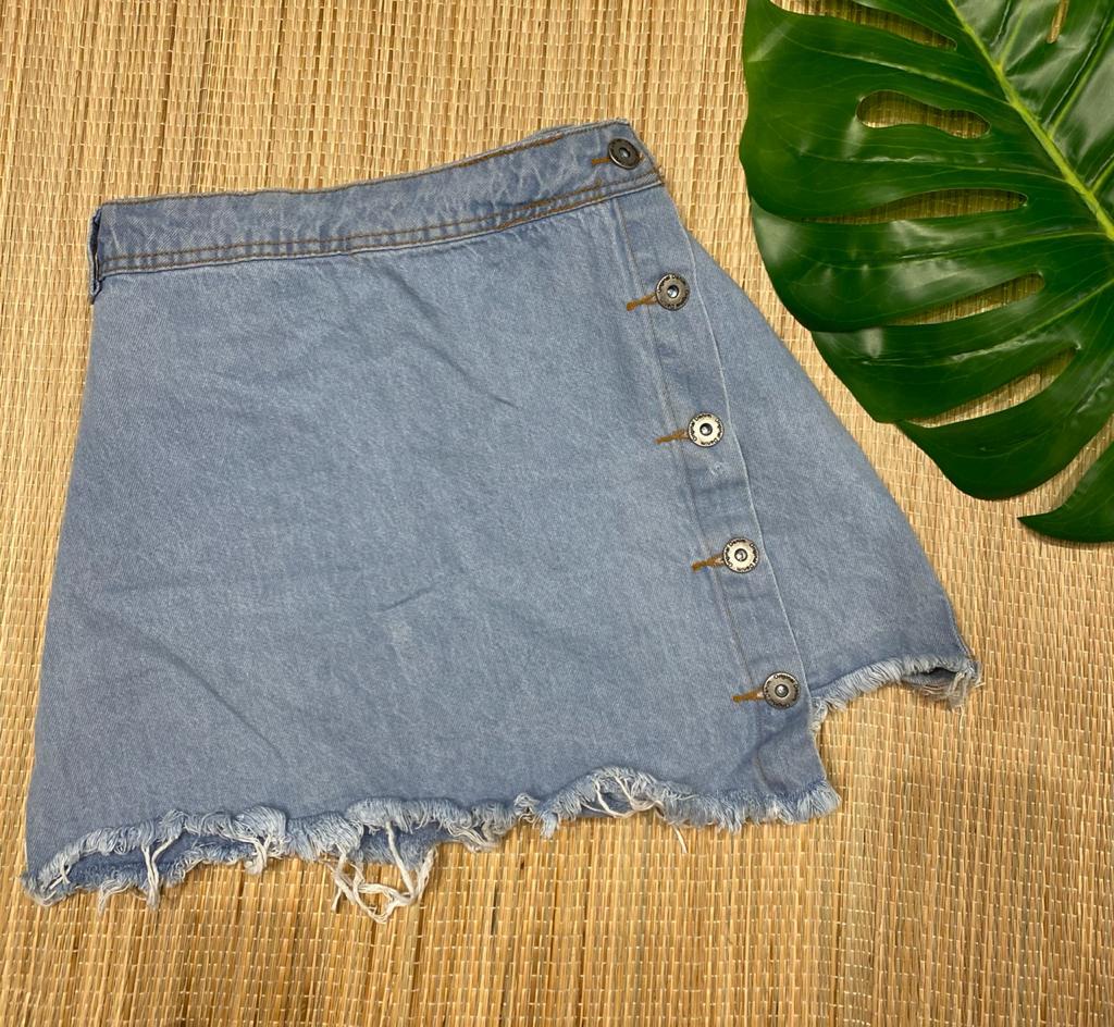 Short saia jeans 1028