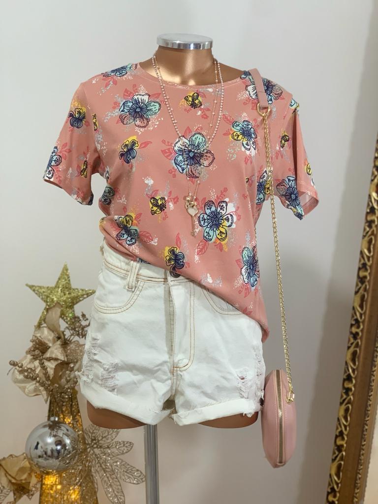 T-shirts flores Lorena