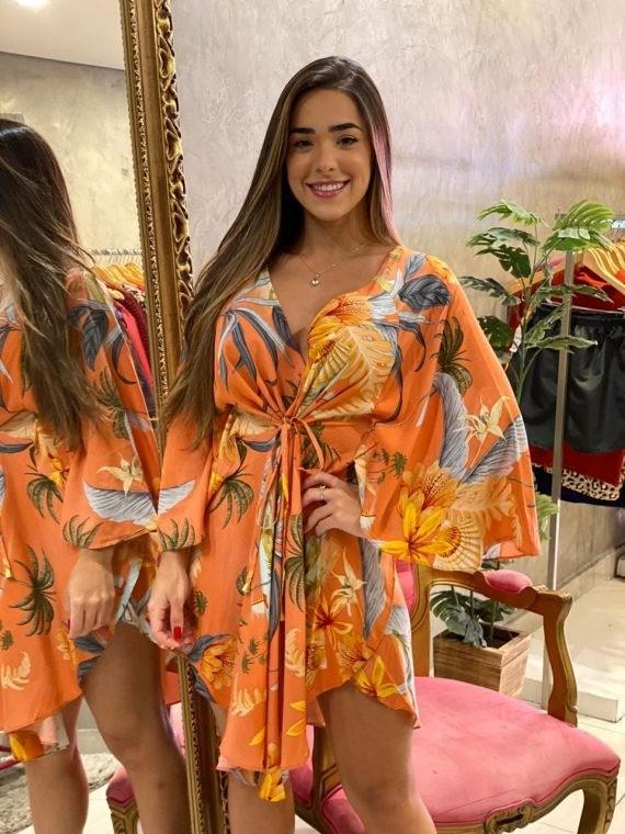 Vestido Kimono Lis