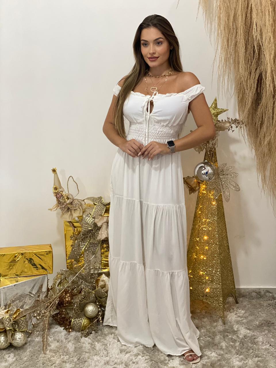Vestido longo Auria