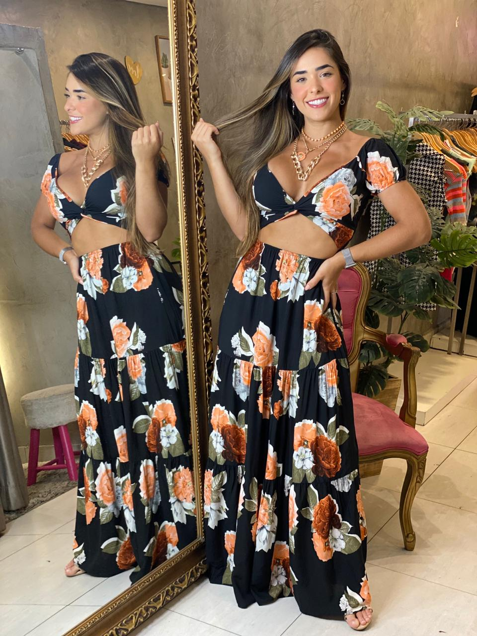 Vestido longo Bruna