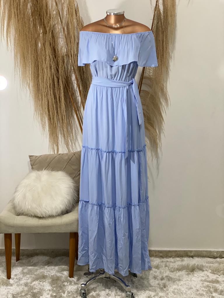 Vestido longo ciganinha Ada