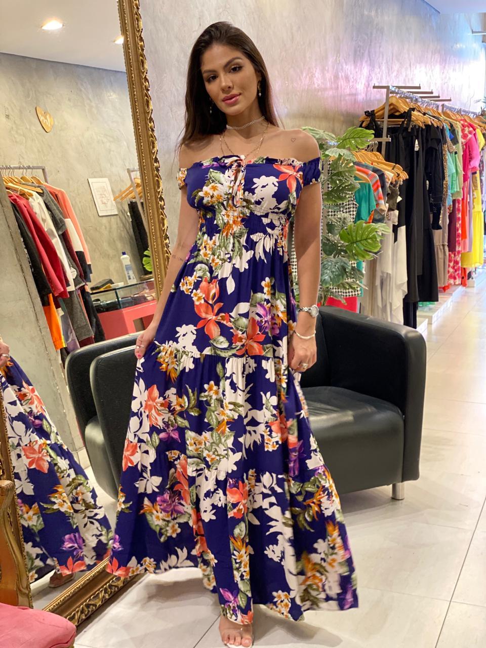 Vestido longo floral Mari
