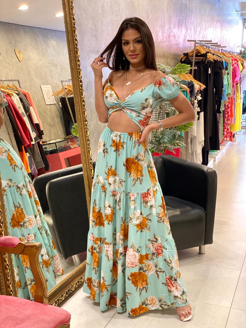 Vestido longo floral Marilia