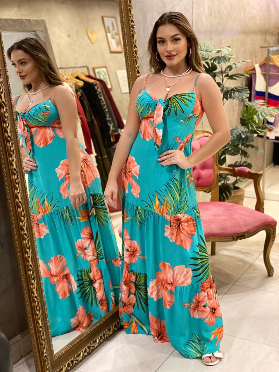 Vestido longo Iana