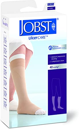 JOBST MD BEGE ESQUERDO ULCERCARE 40 PANT