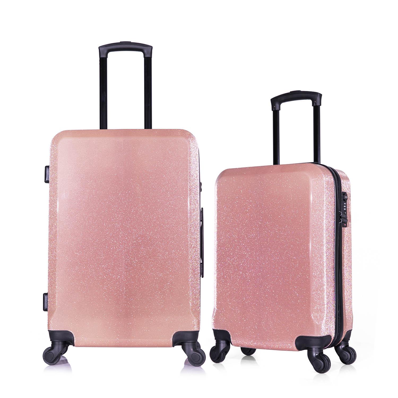 KIT DE MALAS TSA GLITTER P + M ROSE - SEANITE