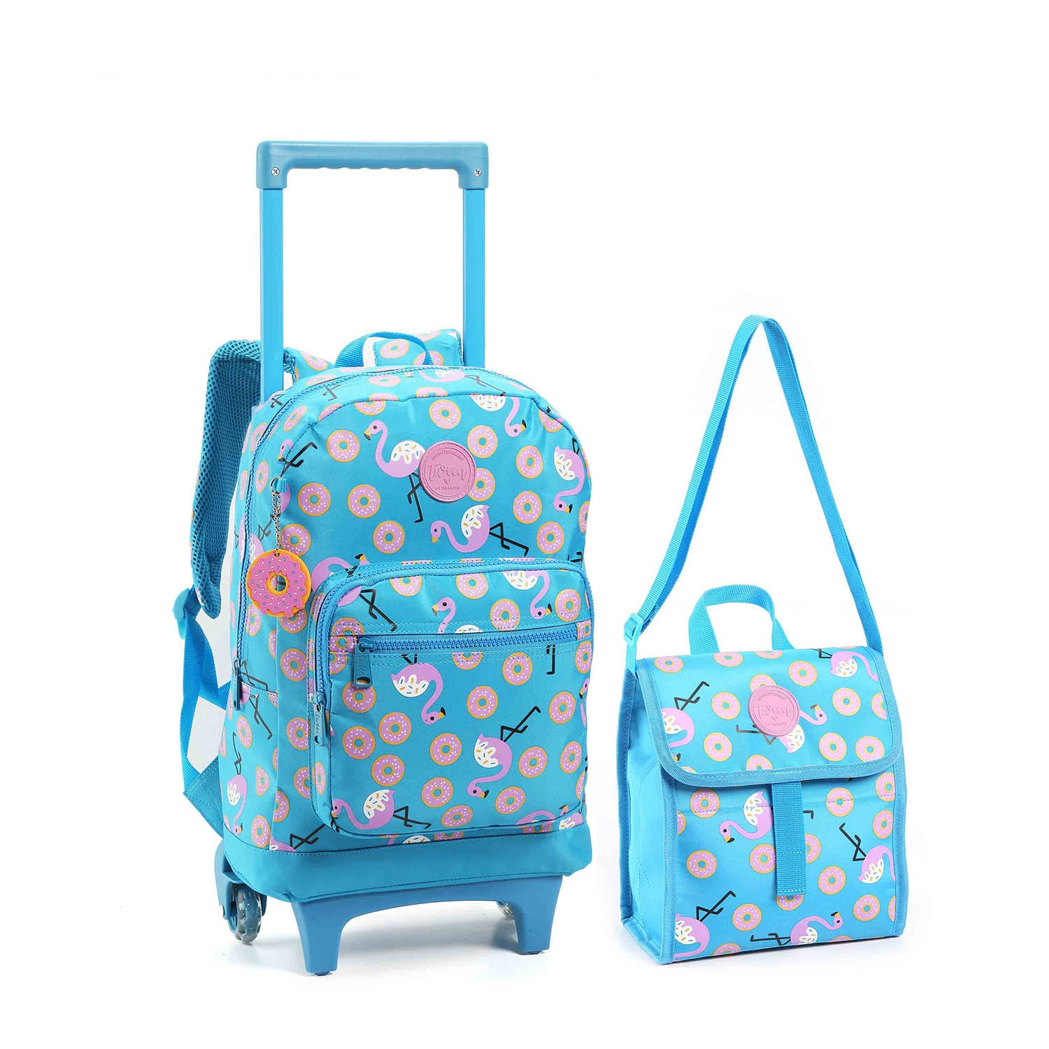 KIT ESCOLAR FEMININO FLAMINGO AZUL - SEANITE