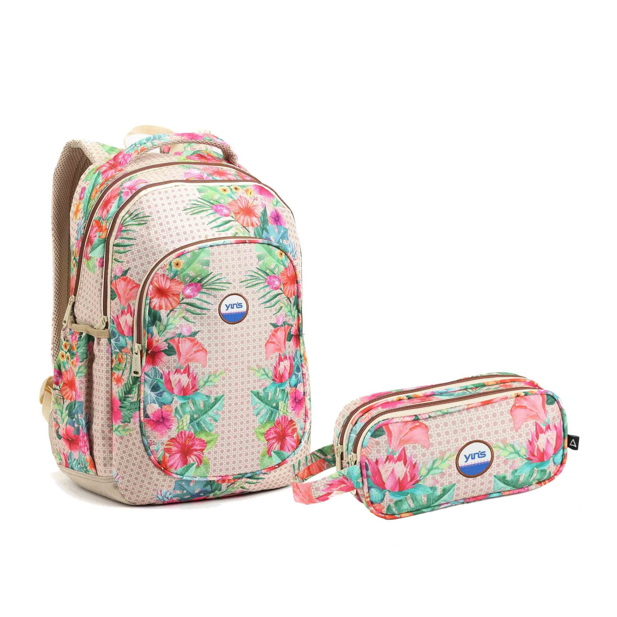 KIT ESCOLAR FEMININO FLORAL - SEANITE