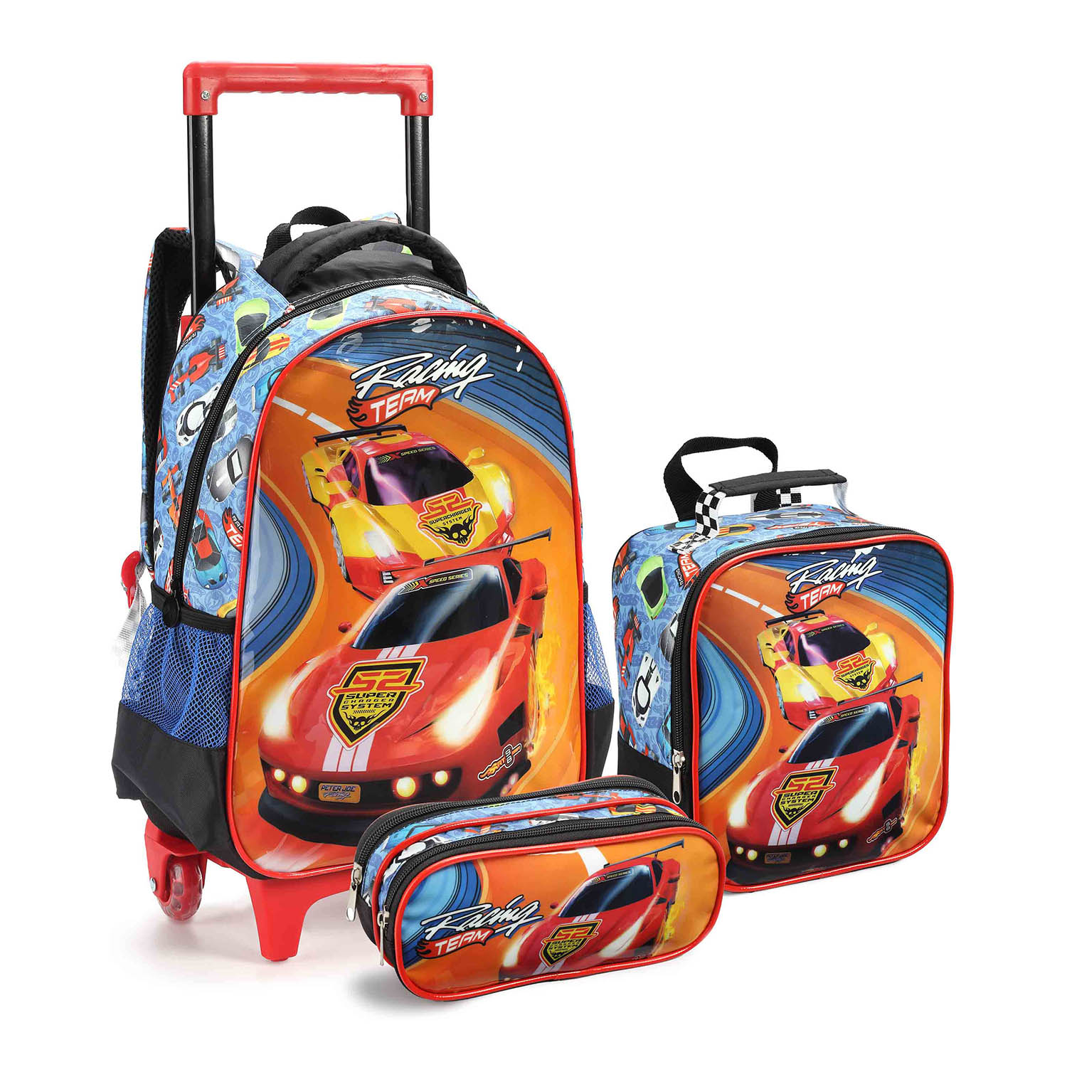 KIT ESCOLAR MASCULINO CARROS - SEANITE