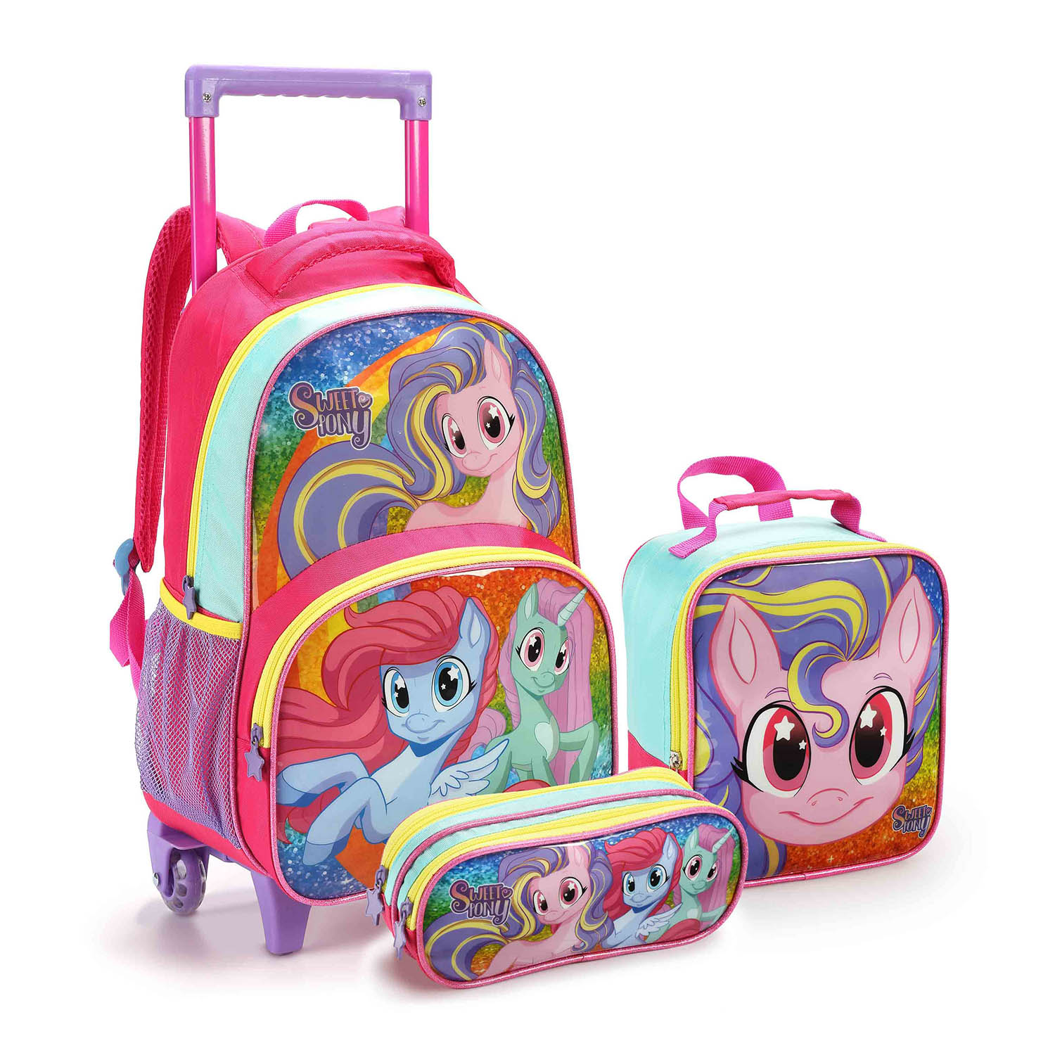 KIT ESCOLAR SWEET PONEY PINK - SEANITE