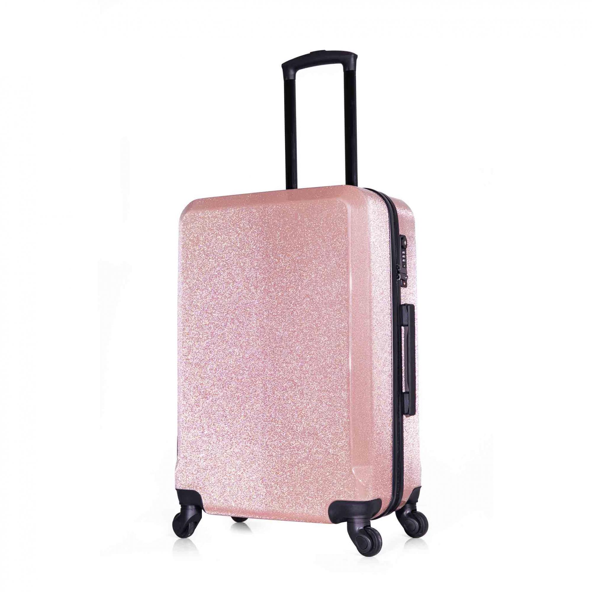 MALA DE BORDO TSA GLITTER 20'' ROSE - SEANITE