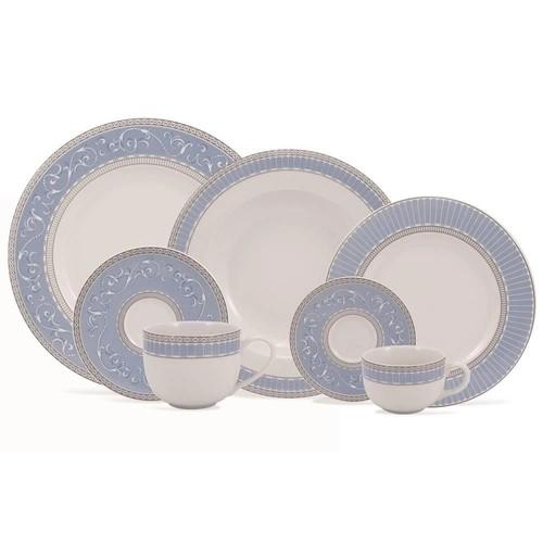 Aparelho De Jantar 30 Peças Em Porcelana Linha Diva Ref:2128402276030 - Schmidt