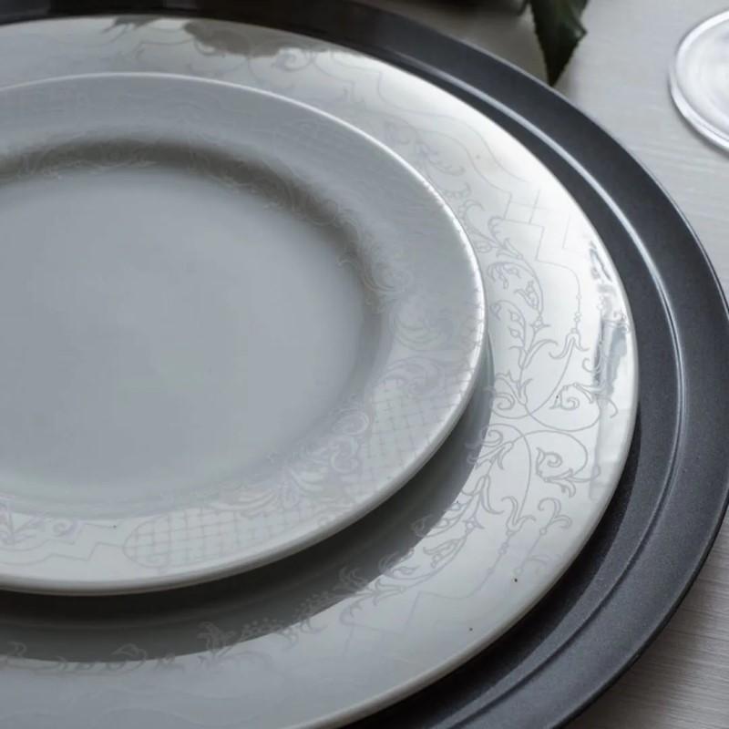 Aparelho De Jantar 42 Peças Em Porcelana Linha Arabesco Ref:2928302363042 - Schmidt