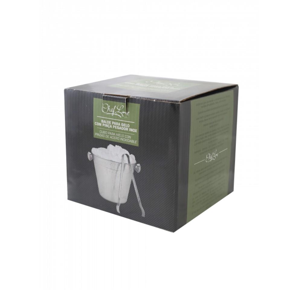 Balde De Gelo Inox 14cm Com Pegador 1,4 Litros Ref:50905 - Chefline