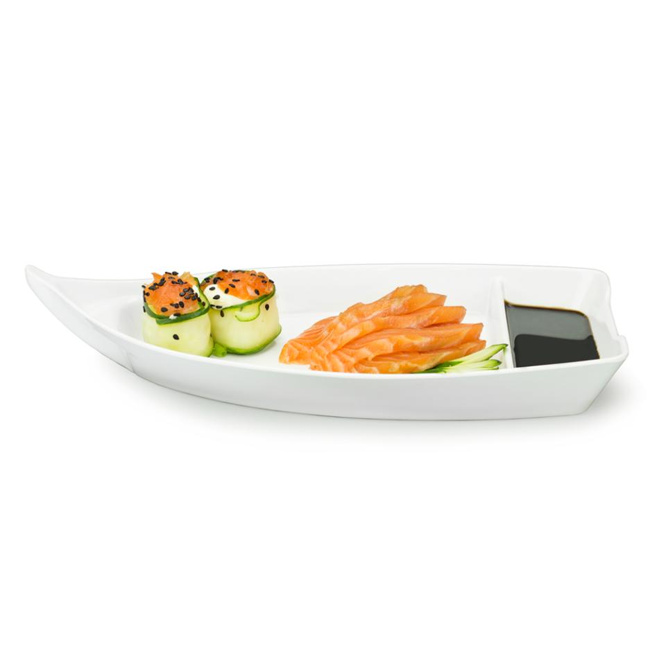 Barco De Sushi-sashimi 26,2cm Em Melamina Profissional Ref:gx5424 - Marcamix